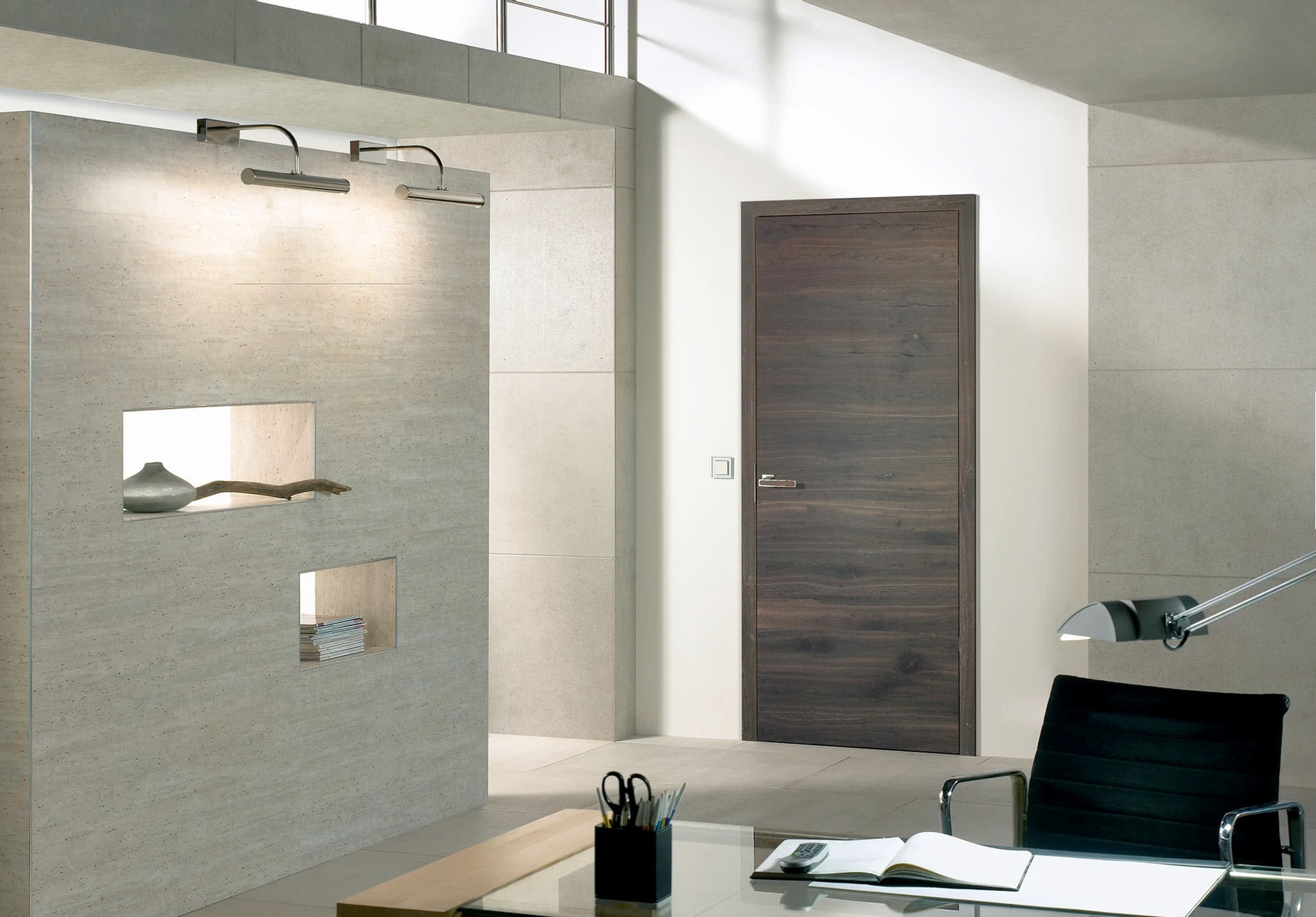 Modern Interior Door with magnetic mortise
