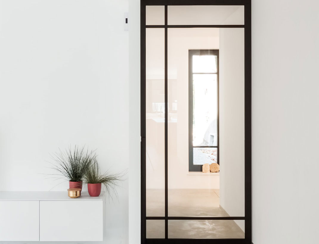 "Pivot Doors Model ""SVING"" Glass with customized rungs"