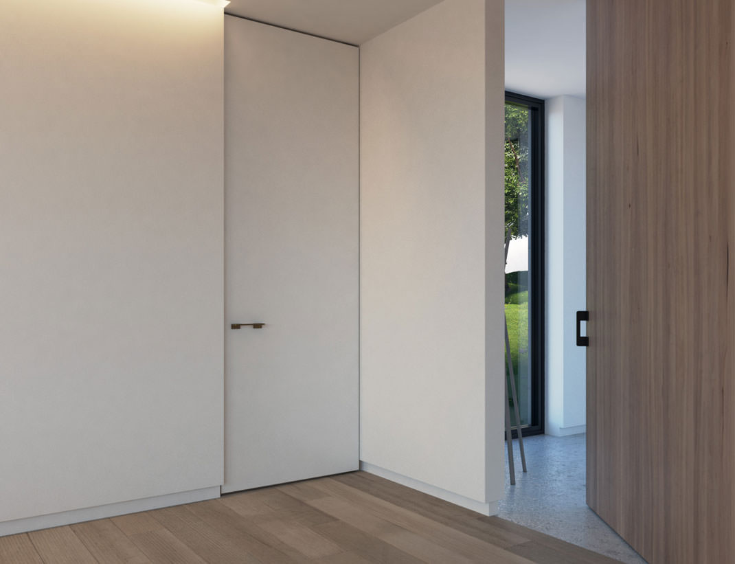 "Pivot Doors Model ""SVING"" lacquered or with wooden surface"