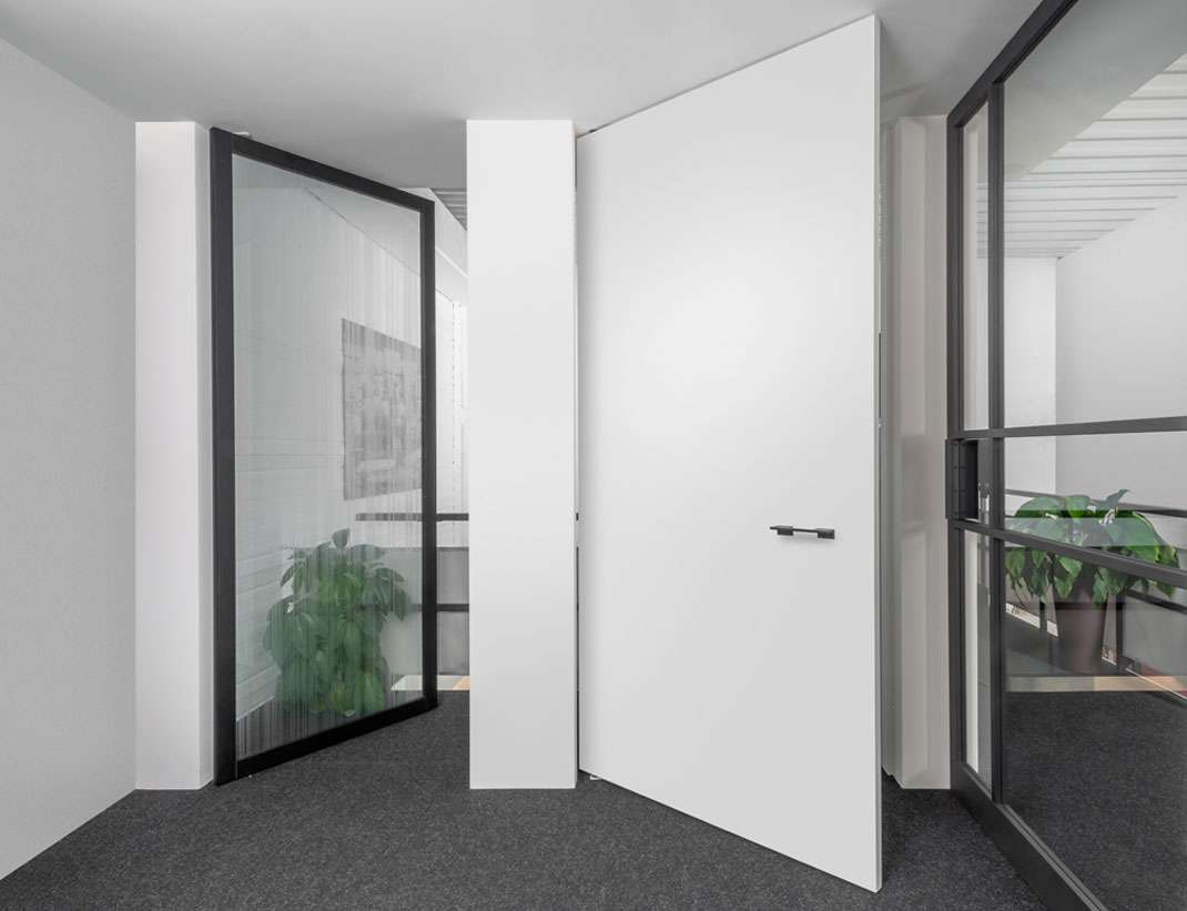 "Pivot Doors Model ""SVING"" as glass or wooden door"