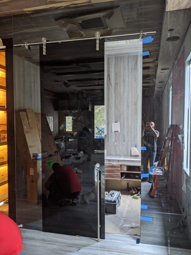 Sliding Glass Barn Door